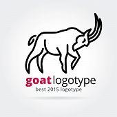 2015 vector goat logotype isolated on white background
