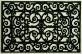 image of wrought iron  - Wrought Iron Wall Ornamentation - JPG