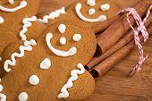 Gingerbread Man Cookies And Cinnamon Sticks