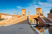 picture of ferrara  - Trepponti or Ponte della Pallotta - JPG