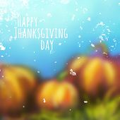 Vector autumn background for Thanksgiving Day