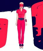 fashion lady Black and red style
