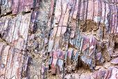 The Close-up Relief Of The Rocks Layers
