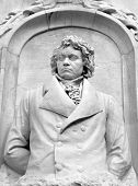 picture of mozart  - Architectural detail of the monument to Beethoven  - JPG