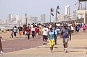 Participants Of Heritage Day Walk At Durban Beachfront South Africa