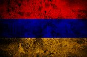 stock photo of armenia  - grunge flag of Armenia with capital in Yerevan - JPG