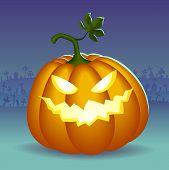 Angry helloween pumpkin