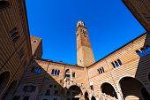 Lamberti Tower And Ragione Palace - Verona Italy