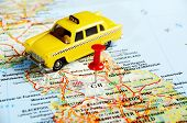 Great Britain  Map Pin Taxi