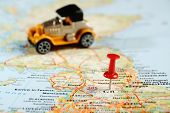 Great Britain  Map Pin Car