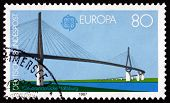 Postage Stamp Germany 1987 Kohlbrand Bridge, Hamburg