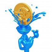 Euro Coin Splashing Head