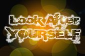 Look After Yourself Concept