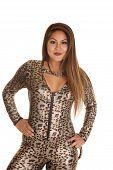 Woman Leopard Costume Jump Suit