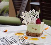 key lime cheesecake with macadamia nut