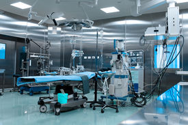 picture of emergency light  - cardiac surgery Operating room in  the hospital - JPG