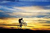 crossing the mountain bike