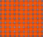 stock photo of tartan plaid  - texture of orange tartan plaid textile fabric for pattern background - JPG