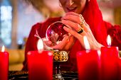 picture of witch ball  - Fortuneteller or esoteric Oracle - JPG