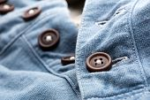 Jean cardigan with buttons