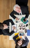 foto of assemblage  - Busy businesspeople during assemblage in company - JPG