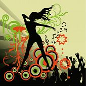 Poster,rock festival band.