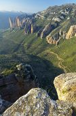 Rock spires known as Mallos de Riglos, Huesca, Aragon, Spain