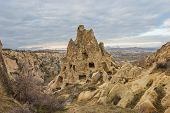 foto of goreme  - view of Cappadocia Goreme National Park in winter time  - JPG