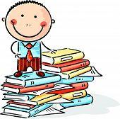 Cartoon clerk