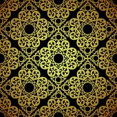 image of lace  - Vector seamless pattern in Victorian style - JPG