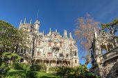 Ancient Historic Castle Regaleira. Portugal, Sintra.