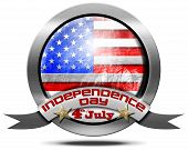 Usa Independence Day - Metal Icon