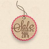 Sale and discount upto 20% tag for International Women's Day celebration.