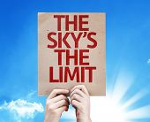 The Sky's The Limit card with sky background