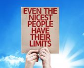 Even The Nicest People Have Their Limits card with sky background