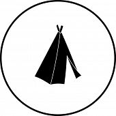 pic of tipi  - native american tepee symbol - JPG