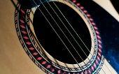 Acoustic Guitar Sound Hole Close Up
