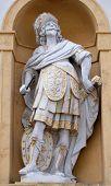 GRAZ, AUSTRIA - JANUARY 10, 2015: Mars, Roman god of war, Arsenal (Zeughaus) historic center listed as World Heritage by UNESCO in Graz, Styria, Austria on January 10, 2015.