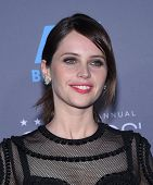 LOS ANGELES - JAN 16:  Felicity Jones arrives to the Critics' Choice Awards 2015  on January 16, 2015 in Hollywood, CA