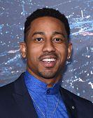 LOS ANGELES - FEB 02:  Brandon T. Jackson arrives to the