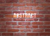 Abstract brick background. Vector.