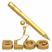 stock photo of blog icon  - Concept  - JPG