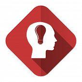 head flat icon human head sign