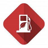biofuel flat icon bio fuel sign