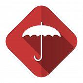 umbrella flat icon protection sign