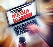 Digital Online News Social Media Concept