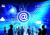 foto of commutator  - Business People Commuter Technology Security Email Messaging Concept - JPG