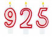Candles Number Nine Hundred Twenty-five