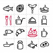 simple food icons set