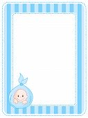 image of announcement  - Cute blue baby boy arrival  - JPG
